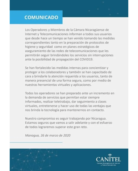 Comunicado-CANITEL